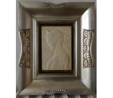 Antický reliéf ženy z keramickej sádry 20 storočie