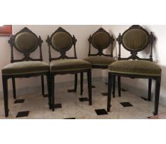4 Stoličky v neoklasicisnom štýle drevené