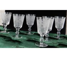 6 ks pohárikov na víno v rokokovom štýle