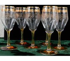 6 pohárov na víno Bohemia Czechoslovakia