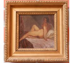A.Procházka-Sediaci akt ženy na pohovke