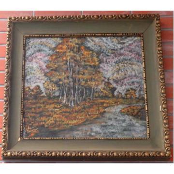 Anton Jasusch (1882-1965)-Brezový les s riečkou
