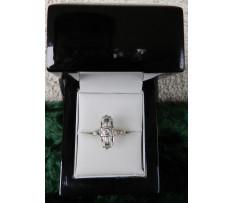 Art Deco Au prsten briliant 0,05 ct