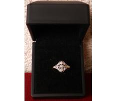 Art Deco prsteň briliantový 0,45 ct (11ks)