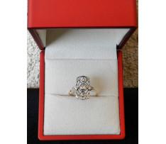 Art Deco prsteň zlatý briliant. 0,32 ct R.U. Wien