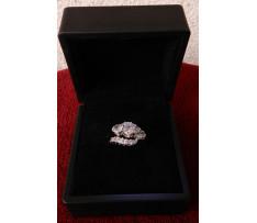 Art Deco prsteň Au briliantový 2,08 ct (15 ks)