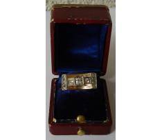 Art Deco prsteň zlatý briliantový 0,33 ct (11ks)