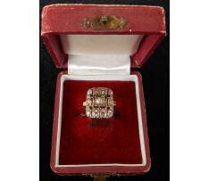 Art Deco prsteň briliantový 0,74 ct Maďarsko
