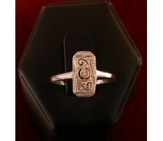 ART Deco prsten zlatý briliantový 0,025 ct