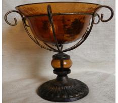 Cukornička Neznačená 19.stor. kov a sklo