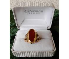 Dámsky zlatý prsteň s Karneolom ČSR ok.1930-40