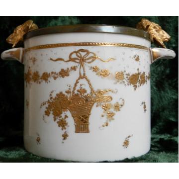 Dóza Wien Rakúsko porcelán a mosadz