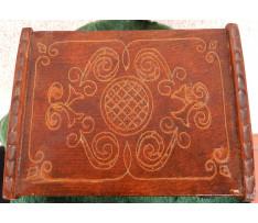 Drevená schránka na šperky 20 storočie