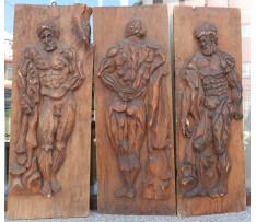 J.K.- Trio atlétov drevorezba 20 storočie