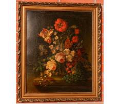 Jos.Lauer(1818-1881)-Kvetinové zátišie