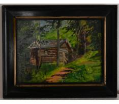 Josef Rektor(1887-1953)-Chatka v lese