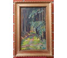 Josef Rektor(1887-1953)-Alej v lese