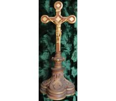 Ukrizovaný Ježíš Kristus- drevený k.19.stor.