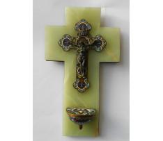 Kropenička Ježíš Kristus brazilsky onyx ,smalty
