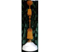 Luster Čechy okolo 1930 sklo mosadz Art Deco