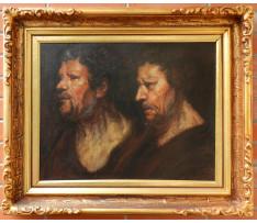 Neznámy ruský autor-Dvojportrét mužov