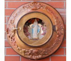 Oválny obrazový rám s Pannou Máriou
