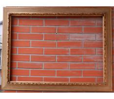Rám zlatý drevený 19 stor. 89,8x64 cm