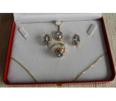 Set Au šperkov Synt.spinel v bar.štýle