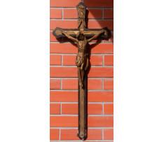 Starý drevený kríž Ježíš Kristus 19 stor.