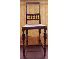 Stolička prvorepubliková drevená