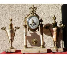 Stolové hodiny 3-dielné 20.roky 20.st.