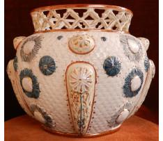 Váza majoliková 19. storočie