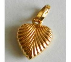 Zlatý prívesok v tvare srdca Au 750/1000