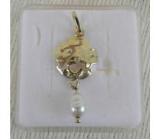 Zlatý prívesok s perlou 585/1000