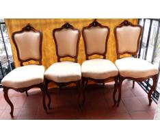 Štyri rokokové stoličky 19.stor.