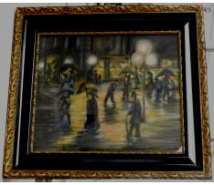 Lesser Ury (1861-1931)-Nočná panoráma  Berlin/Paríž